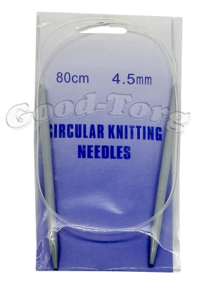 Спица для вязания на леске тефлон 4.5 мм