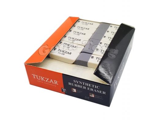 Ластик бело-серый Tukzar 08,упаковка 20 штук