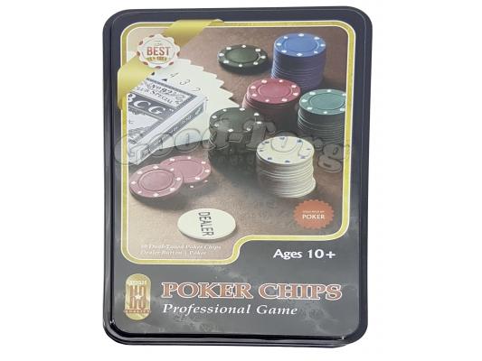 Покерный набор 100 фишек + колода карт