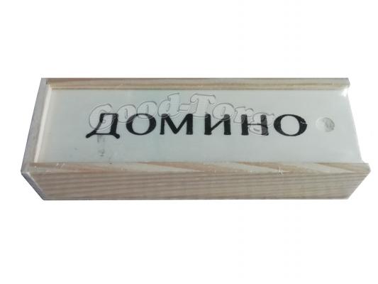 Домино дешевое в деревянной коробке