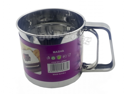 Чашка сито для муки средняя диаметр. 10 см. глубина 10,5 см.