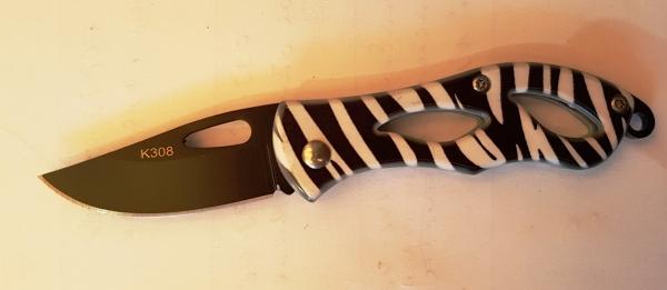 Нож перочинный на планшете К308 зебра - 13 см.