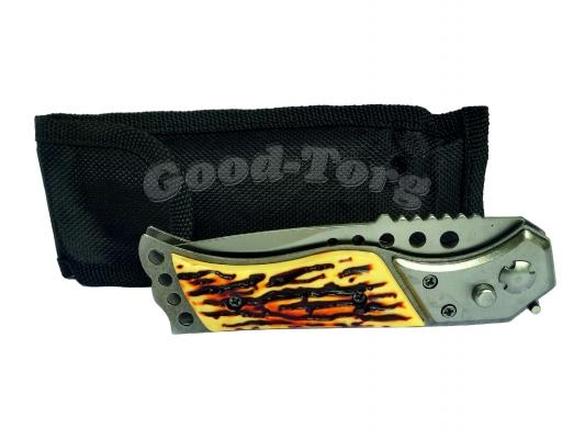 Нож выкидной раскладной средний, 215 мм., костяная ручка