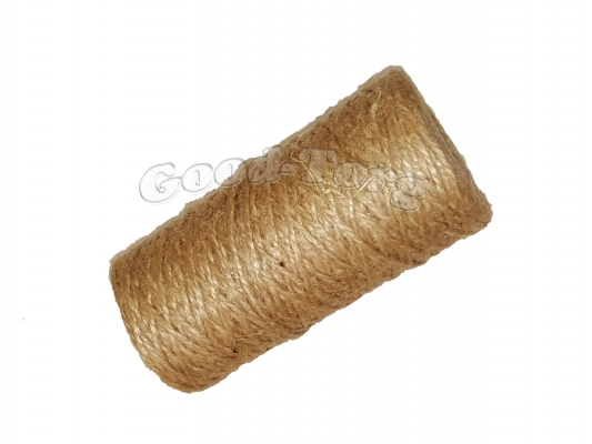 Тепличная нить лен 400 грамм - коричневый цвет.