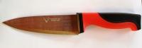 Нож MASTER красно черная резиновая ручка 7-ка  300 мм.