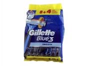Одноразовый станок Gillette blu 3 с плав.головка 12 шт.