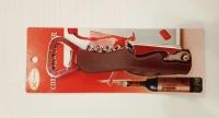Набор открывалка+нож+штопор на блисторе - 14 см.