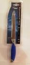Нож артикул S-02 синяя резиновая ручка на планшете. 24 см.