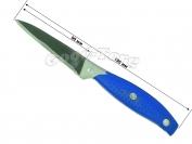 Нож на планшете №1 мал. синяя резиновая ручка, 195 мм., Китай
