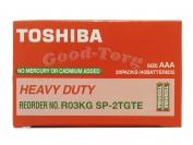 Батарейка Toshibo солевая, AAA R03, микропалец, 40 шт.
