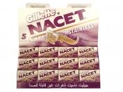Лезвия Gillette NACET - оригинал стальное покрытие 20пач×5шт. (ОАЭ)