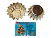 Форма для кекса размер 2-й узкий 1 уп=10 шт.Сталь пищевой d 8 см.h 3см