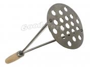 Толкушка для картофеля, круглая, деревянная ручка, 270 мм.